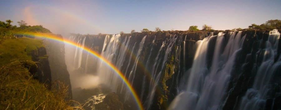 Experience VicFalls - Zambia Lunar Rainbow at The Victoria Falls