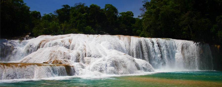 El Mundo Maya - Mexico Chiapas, Agua Azul Falls