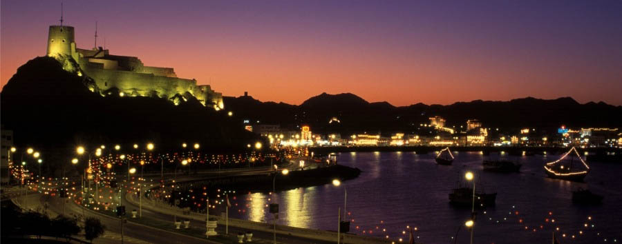 Deserts Crossing - Oman Muscat, City View by Night