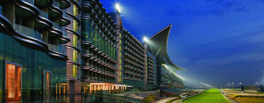 The+Meydan+Hotel+-+Exterior+by+Night