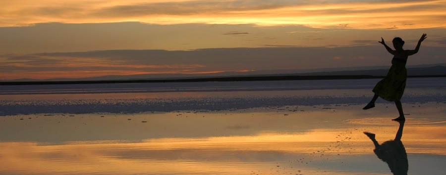 Cile, terra di miti e leggende - Chile Atacama Desert, Salar de Atacama sunset