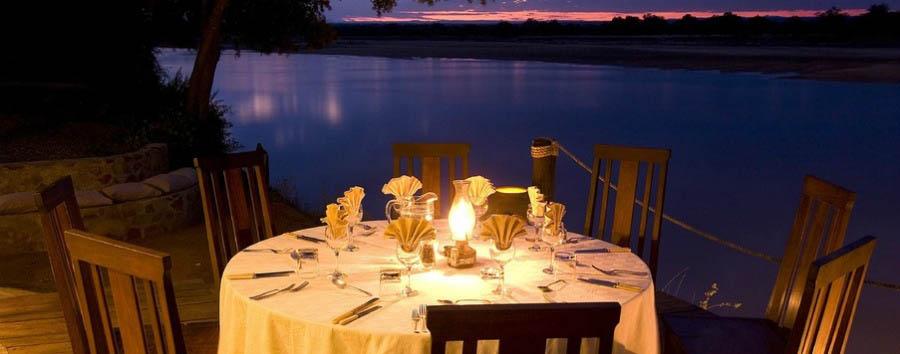 Nkwali - Dinner under the stars