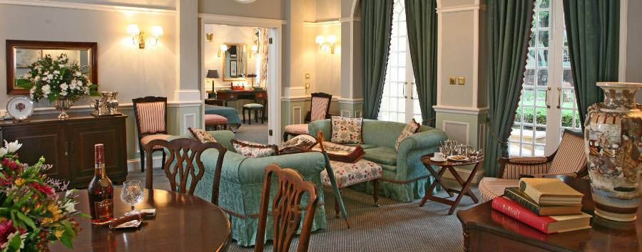 The Victoria Falls Hotel - Royal Suite lounge