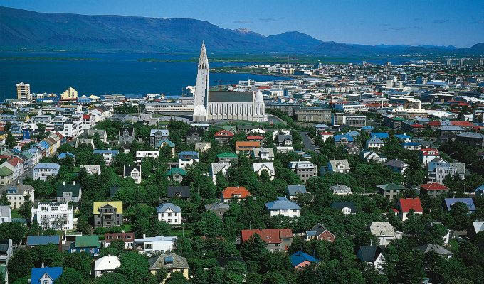 Reykjavik, Aerial View - Courtesy of Iceland Travel - Iceland