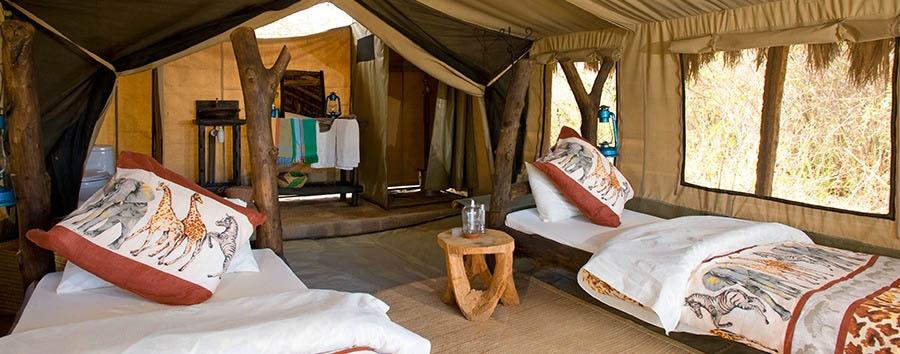 Tindiga Tented Camp - Twin Room