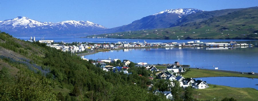 Iceland - View of Akureyri - Courtesy of Iceland Travel