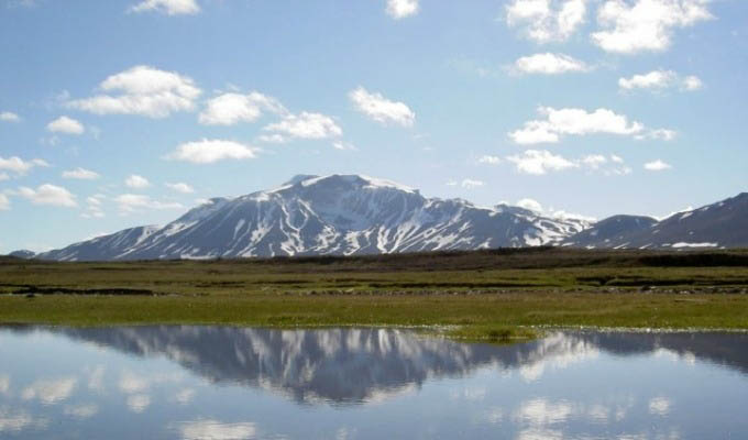 Snaefell Volcano in Summer - Iceland