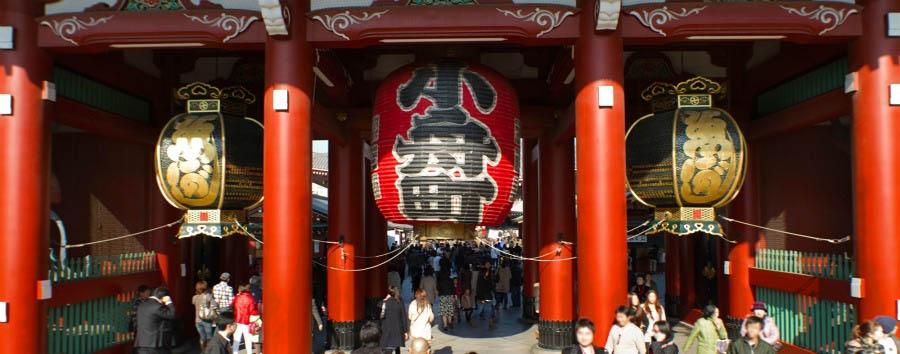 Fra Tradizione e Modernità - Japan Tokyo, Asakusa Quarter, Entrance to The Sensoji Temple