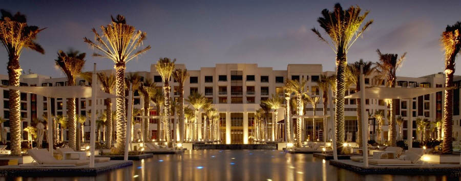 Park Hyatt Abu Dhabi Hotel and Villas - Hotel Exterior by night