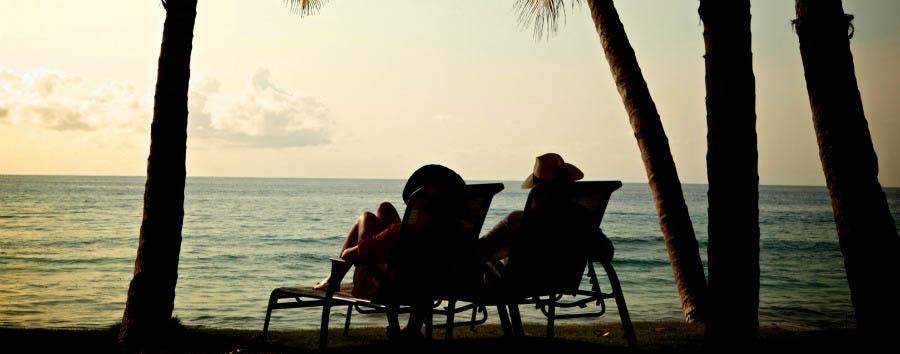 Café e Chocolate - São Tomé Omali Lodge, Beach at sunset
