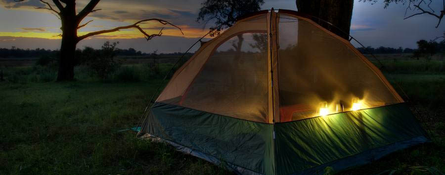 The Kanana Mokoro Trail - Tent by night