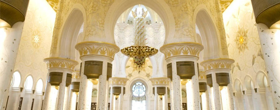 Abu Dhabi - Sheikh Zayed Mosque Interior