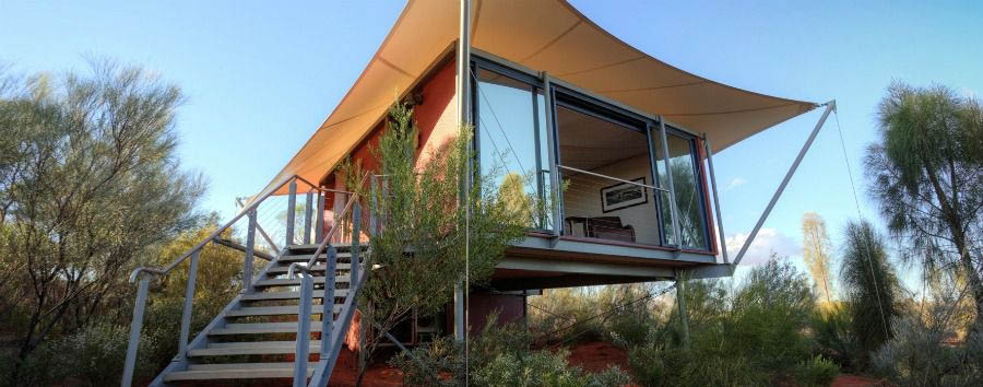 Australia - Longitude 131°, Luxury Tent Exterior © Luxury Lodges of Australia