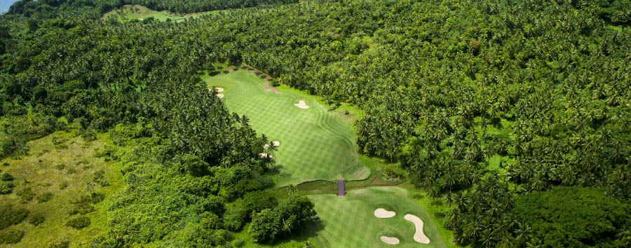Fiji, mare a Laucala Island - Fiji Laucala Island Resort, Golf Course Aerial View