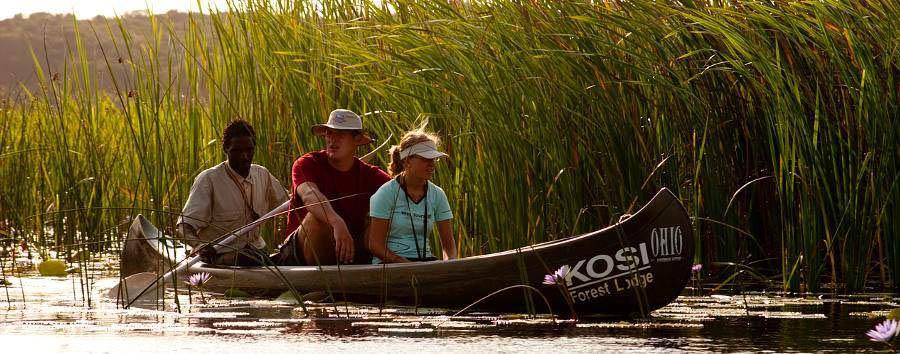 Kosi Forest Lodge - Canoe excursion on Kosi Lake
