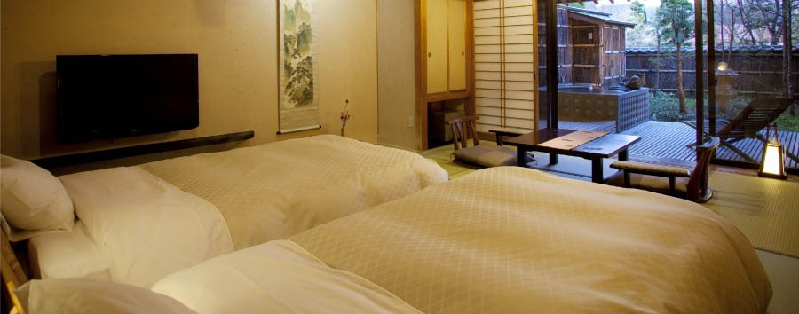 Hidatei+Hanaougi+-+Twin+Room+with+Private+Hotspring+Bath+and+Garden