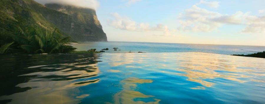 Unique Lord Howe Island Experience - Australia Capella Lodge, Infinity Pool © Luxury Lodges of Australia