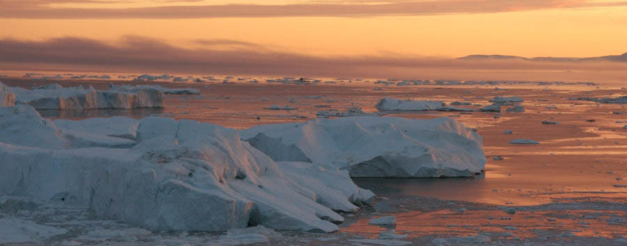 Ilulissat, la città degli iceberg - Greenland Sunset at Ilulissat Icefjord © Leif Taurer/VisitGreenland A/S