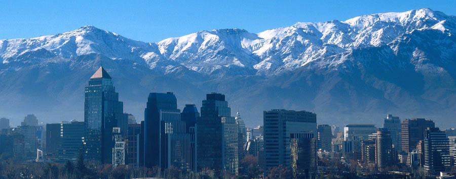 Atton el Bosque - Skyline of Santiago del Cile