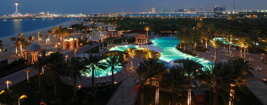 Emirates Palace - East Pool at night