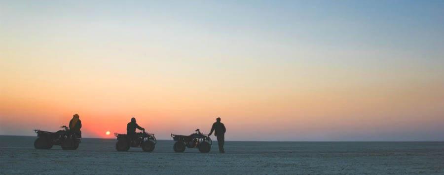 Easy Botswana - Botswana Makgadikgadi Pans, Sunset during Quad Excursion
