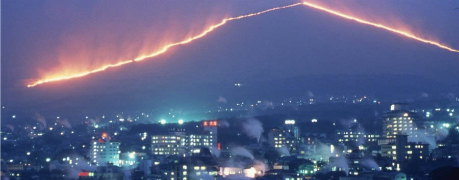 Japan - View of Beppu at Night
