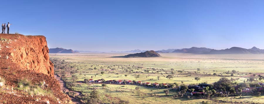 Namib Desert Lodge - Breathtaking view of the Lodge and the Namib Desert