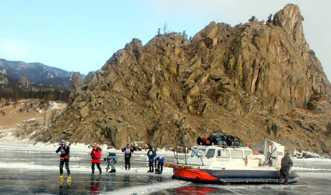 Hovercraft Excursion in Winter - Lake Baikal