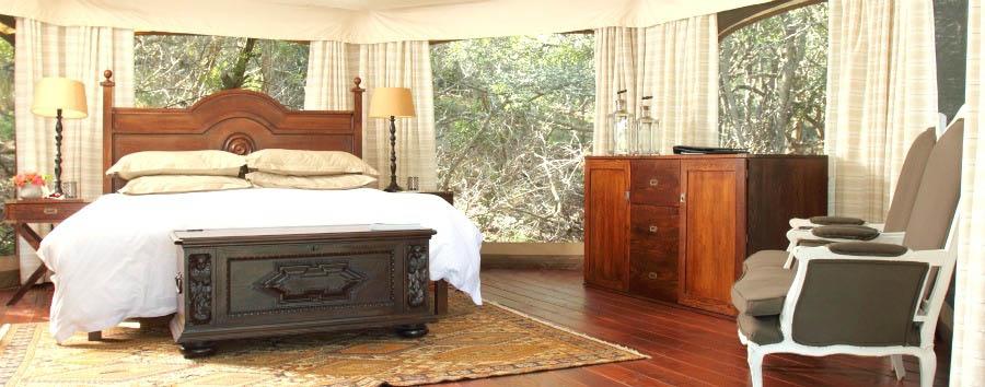 Thanda Tented Camp - Luxury Tent Bedroom