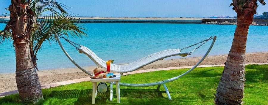 Emirates Extravaganza - Abu Dhabi Al Raha Beach Hotel, Hammock on The Beach