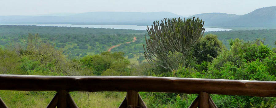 Uganda, Gorilla Adventure - Uganda Incredible view of Lake Mburo from Mantana Tented Camp