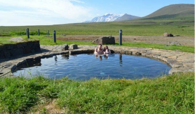 Laugarfell Hot Pools - Iceland