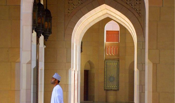 Muscat, Mosque Interior - Oman