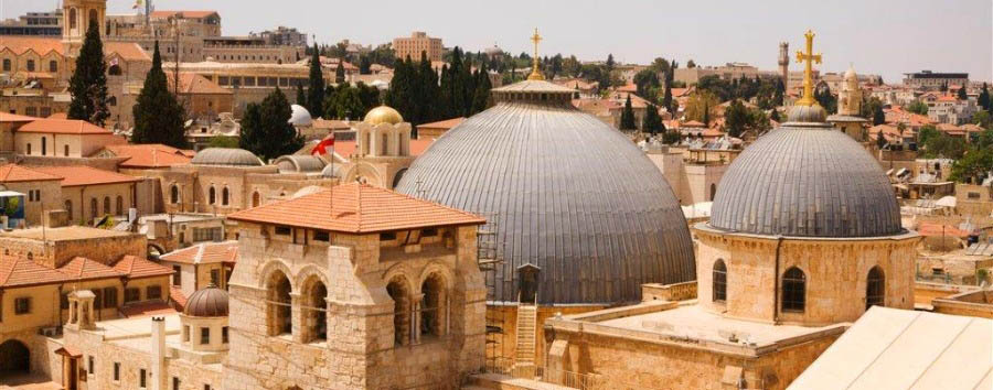 Israel - Jerusalem, View of the Church of the Holy Sepulchre