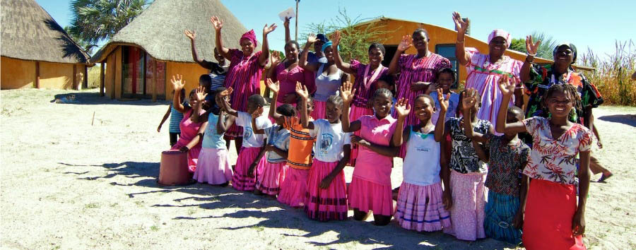 Namibia - Smiling Faces in Ongula Traditional Homestead