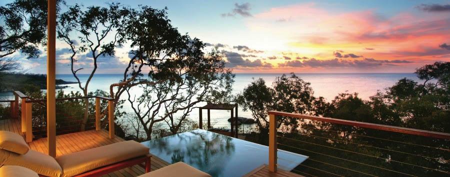 Unique Lizard Island Experience - Australia Lizard Island, Sunset View from The Reef Pavilion © Luxury Lodges of Australia