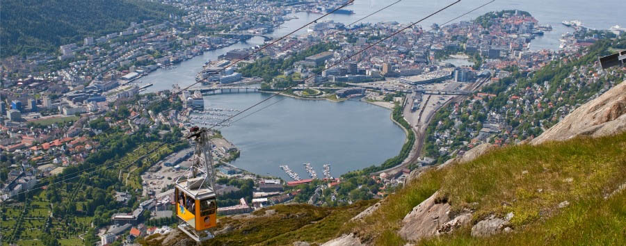 Epic landscapes and fjords - Norway Bergen, Aerial View from Mount Ulriken © CH - Visitnorway.com