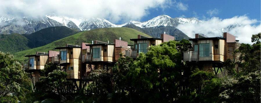 Luna di miele a Kaikoura - New Zealand Hapuku Lodge & Tree Houses, Tree Houses Exterior