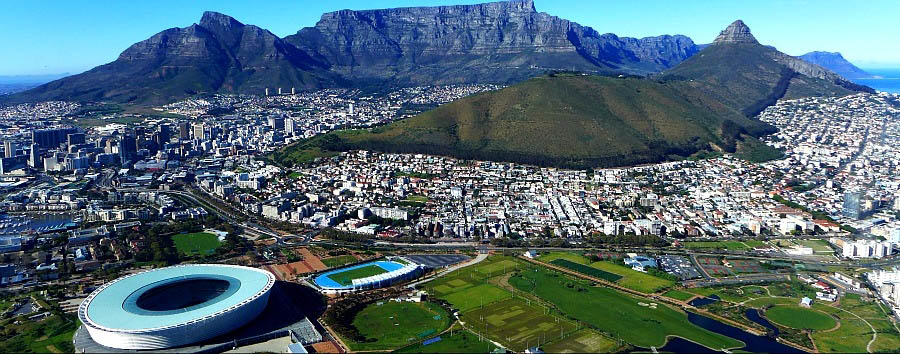South Africa: The Classic Route 62 - South Africa  Cape Town, aerial city view
