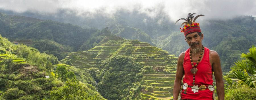 Philippines - Local Ifugao Man at The Banaue Rice Terraces