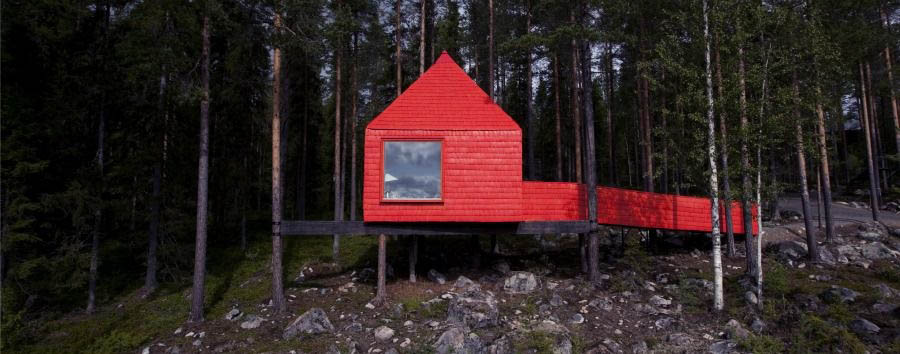 Treehotel+-+The+Blue+Cone%2C+Exterior
