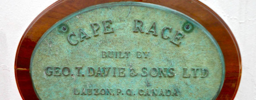 M/V Cape Race - Expedition yacht plaque