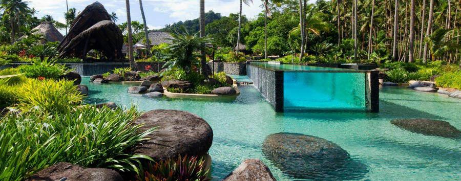 Fiji, mare a Laucala Island - Fiji Laucala Island Resort, Main Pool