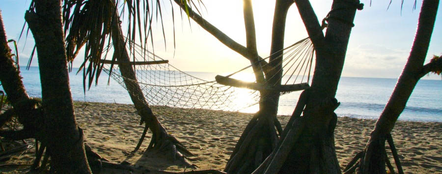Wonders of Saadani - Tanzania Saadani National Park, hammock on the beach