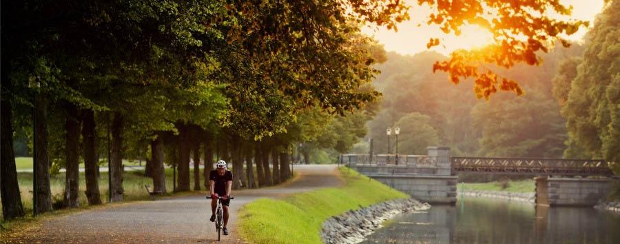 Le Capitali del Nord - Sweden Stockholm, Cycling along The Canal of Djugarden © Werner Nystrand/imagebank.sweden.se