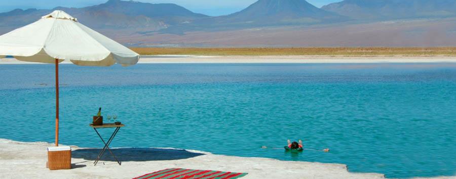 Amor Explora Atacama - Chile Floating in the Salar de Atacama