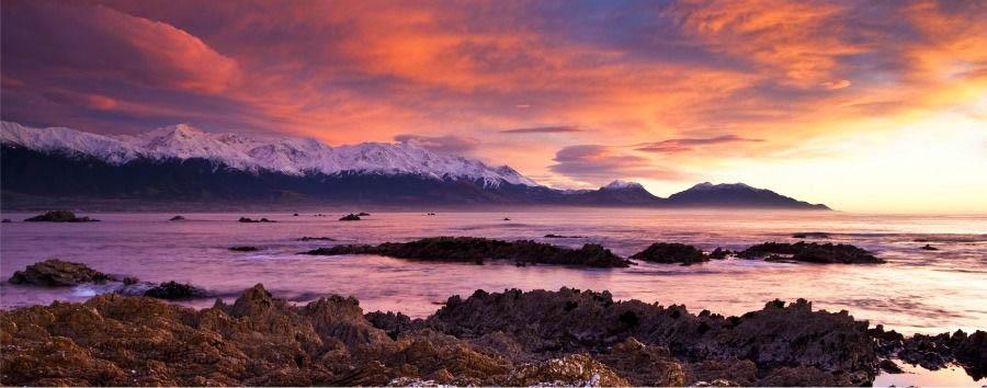 Luna di miele a Kaikoura - New Zealand Kaikoura Mountain Range at Sunset