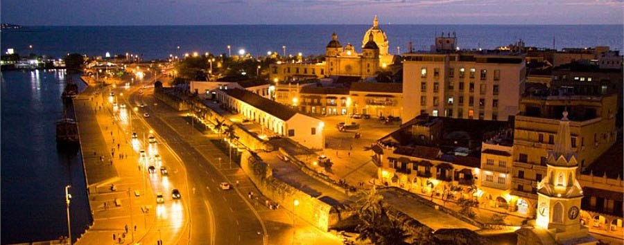 Colombia, Heritage Towns - Colombia Cartagena de Indias, Panorama at Night © ProColombia