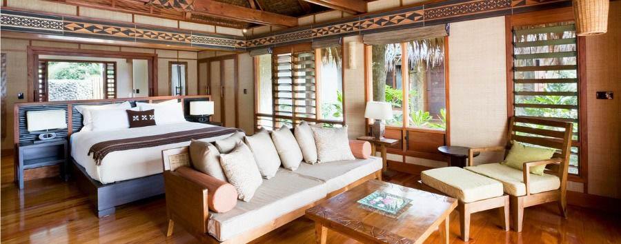 Fiji, mare a Malolo Island - Fiji Likuliku Lagoon Resort, Garden Beachfront Bure