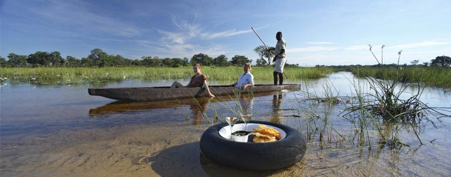 %26Beyond+Xaranna+Okavango+Delta+Camp+-+Mokoro+Excursion...with+a+Treat%21
